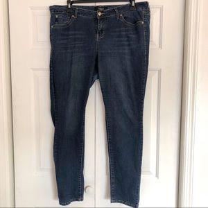 Torrid dark wash straight skinny leg blue jeans